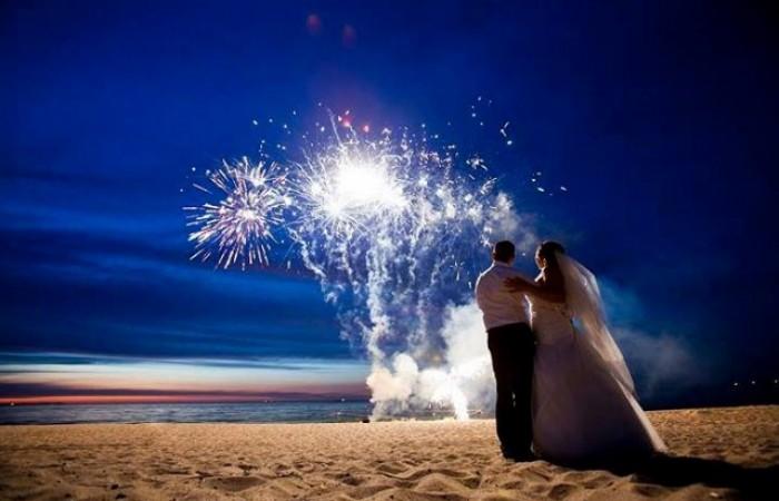 sztuczne ognie ślub i wesele, pokaz pirotechniczny na weselu, pokazy sztucznych ogni